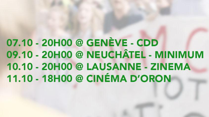 Plus chauds que le climat au cinéma en Suisse romande